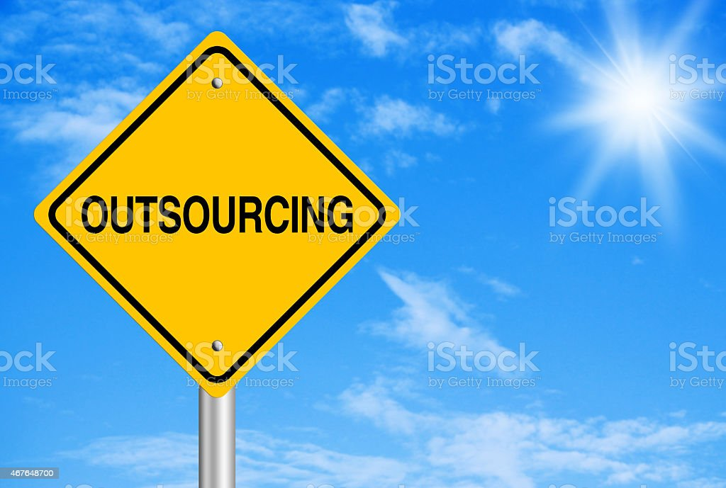 Outsourcing Abstract stock photo