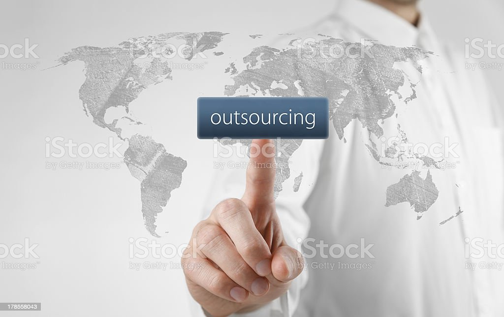 Outsourcing concept royalty-free stock photo