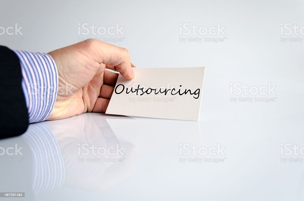 Outsourcing Concept stock photo
