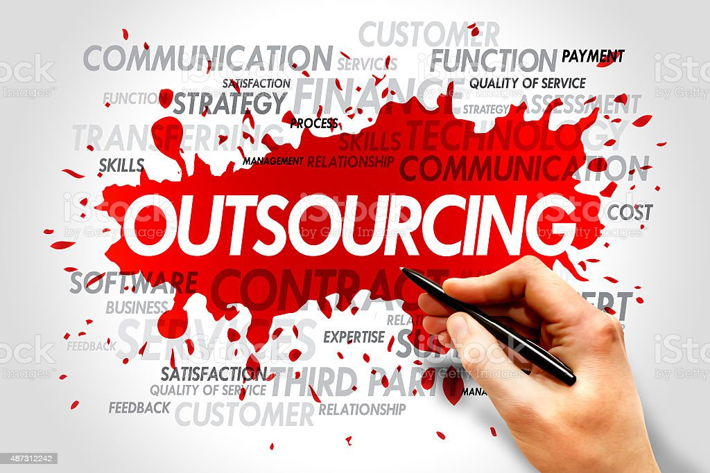 Outsourcing stock photo