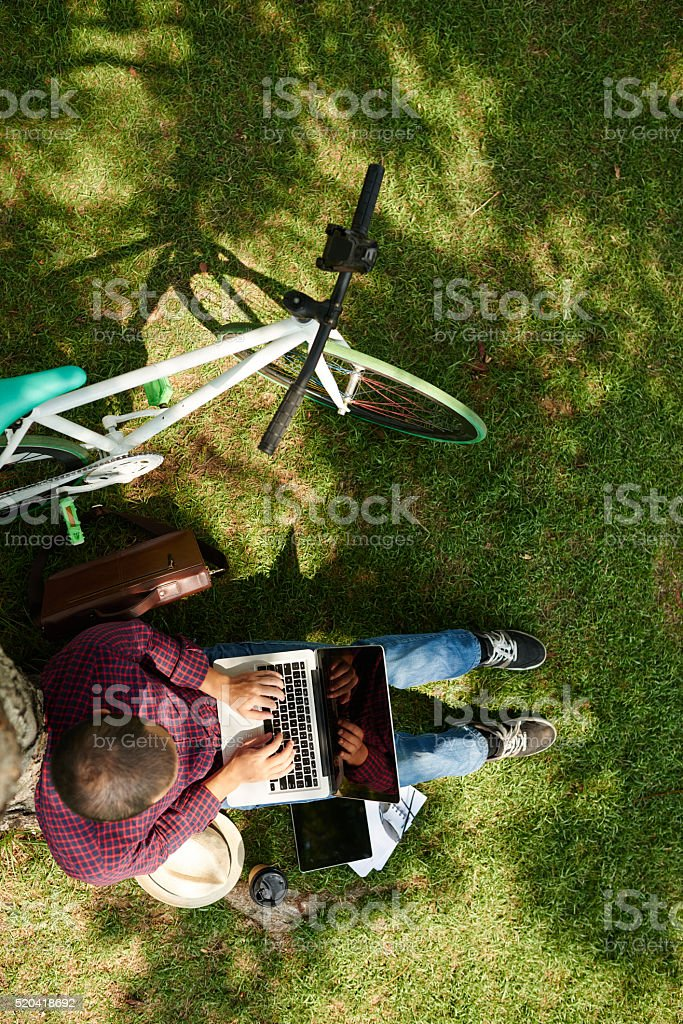 Outsourcing work stock photo