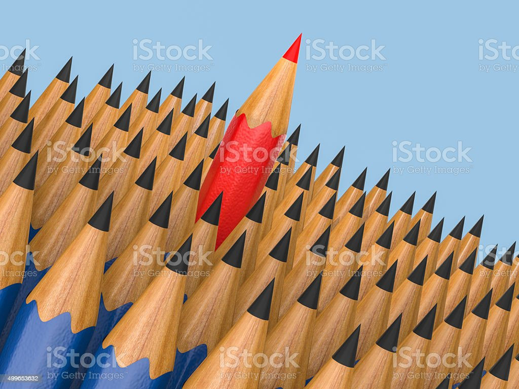 outstanding character concept stock photo
