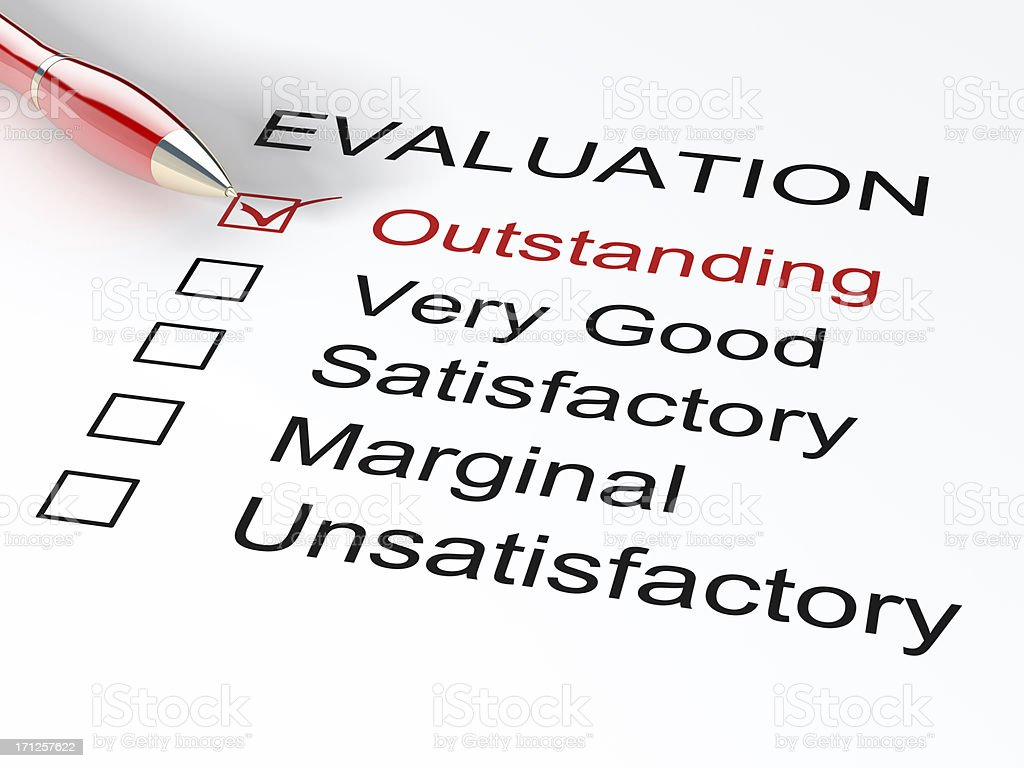 Outstanding Evaluation stock photo