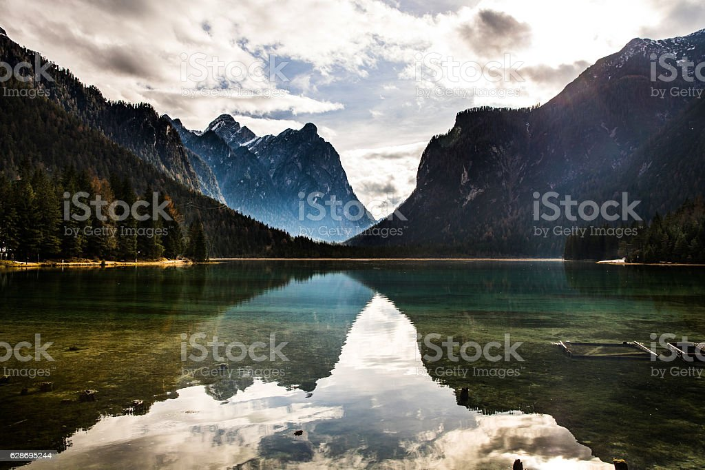 Outstanding mountain scenic view on the Alps stock photo