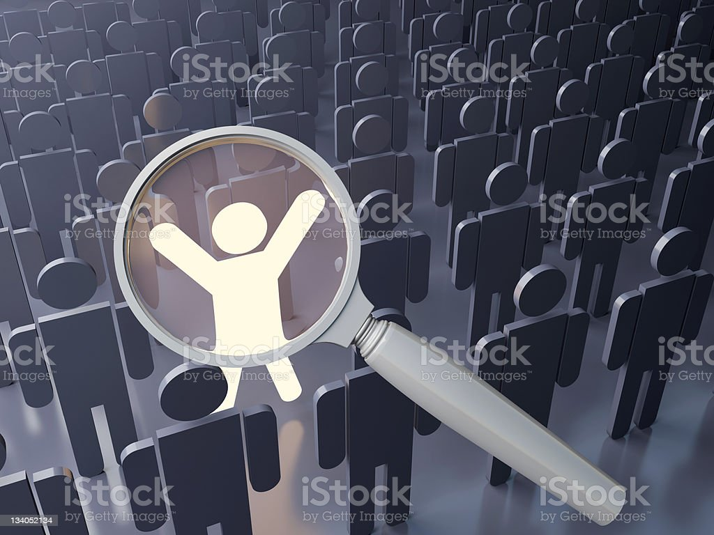 Outstanding people search stock photo