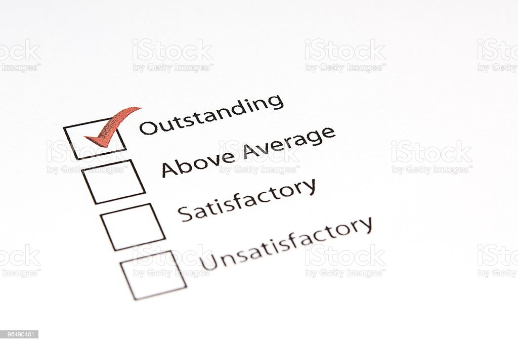 Outstanding Questionnaire royalty-free stock photo