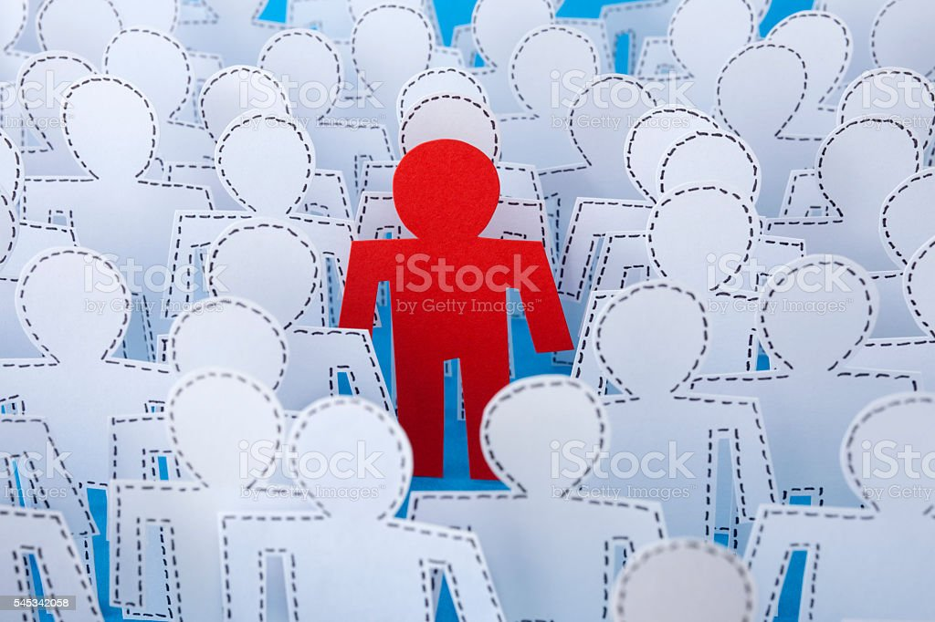 Outstanding red man stock photo