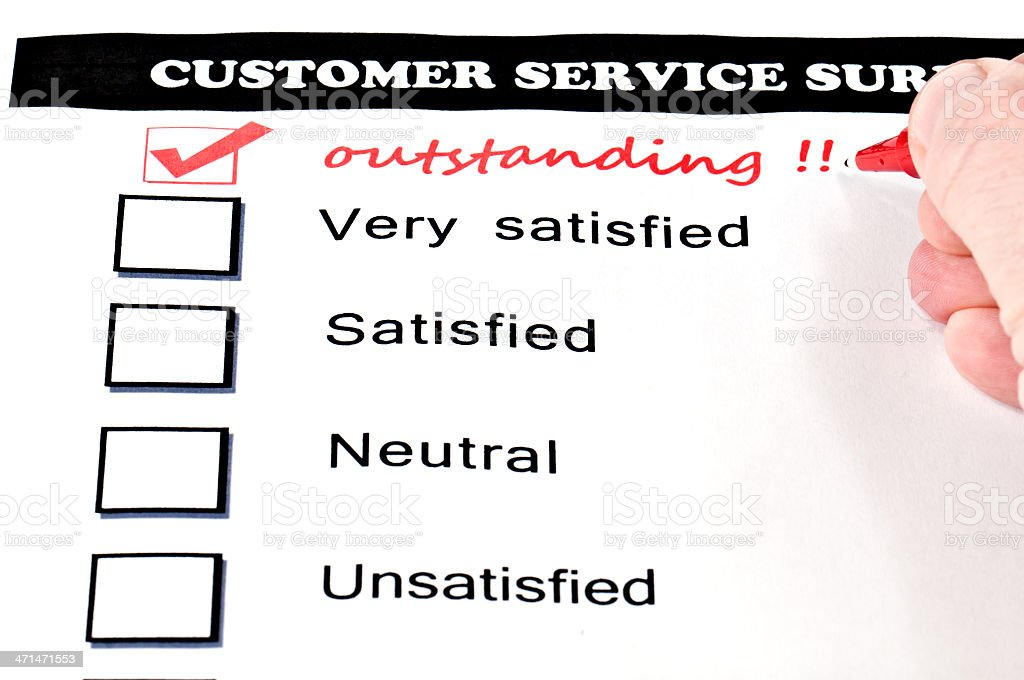 Outstanding service royalty-free stock photo