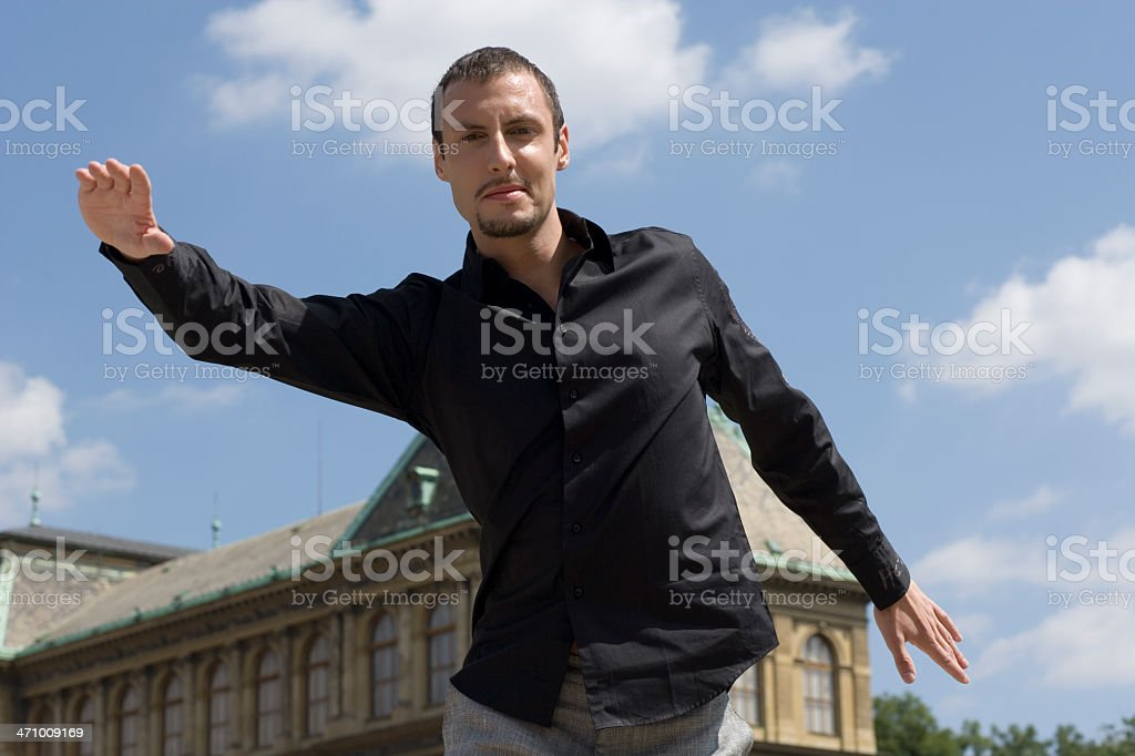 Outstretched stock photo