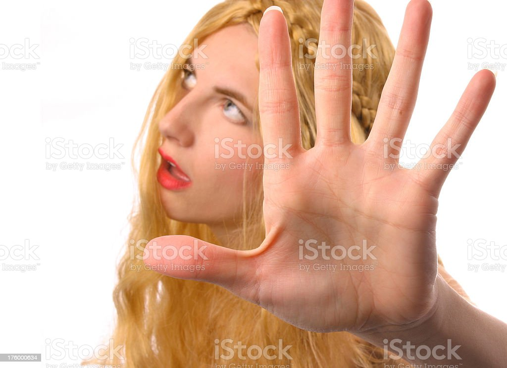 Outta My Face stock photo