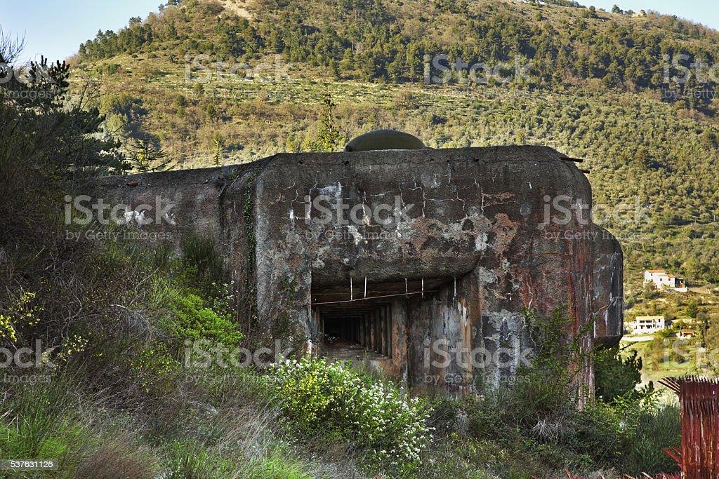 Ouvrage Saint-Roch near Sospel. France stock photo