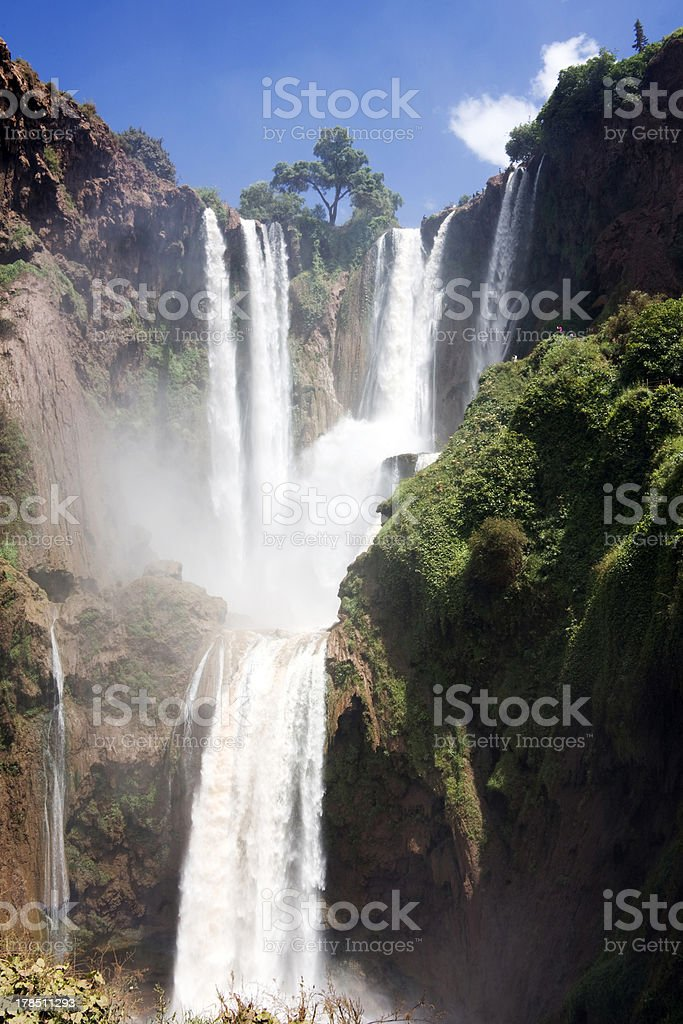 ouzoud big waterfalls royalty-free stock photo