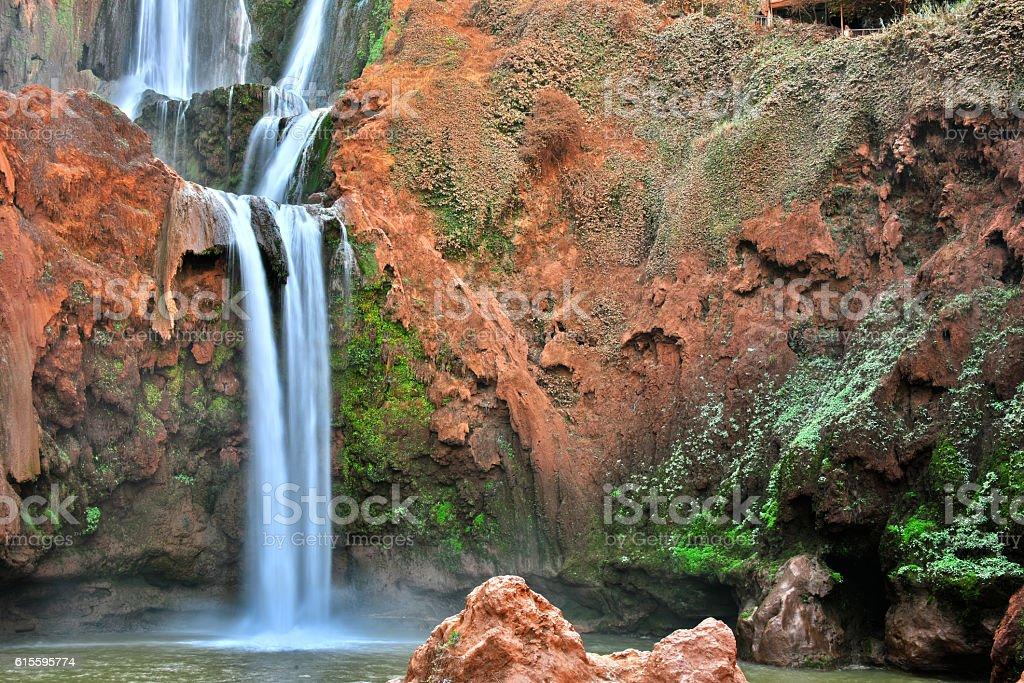 Ouzoud Falls near the Grand Atlas village of Tanaghmeilt Morocco stock photo