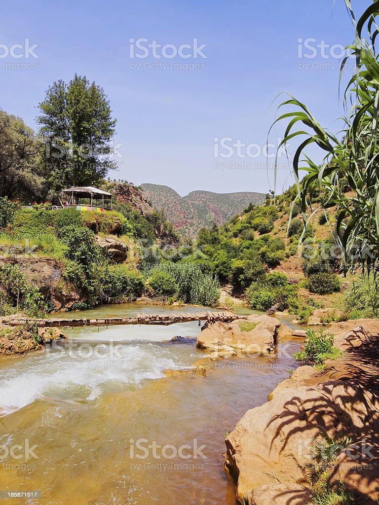 Ouzoud River, Morocco stock photo