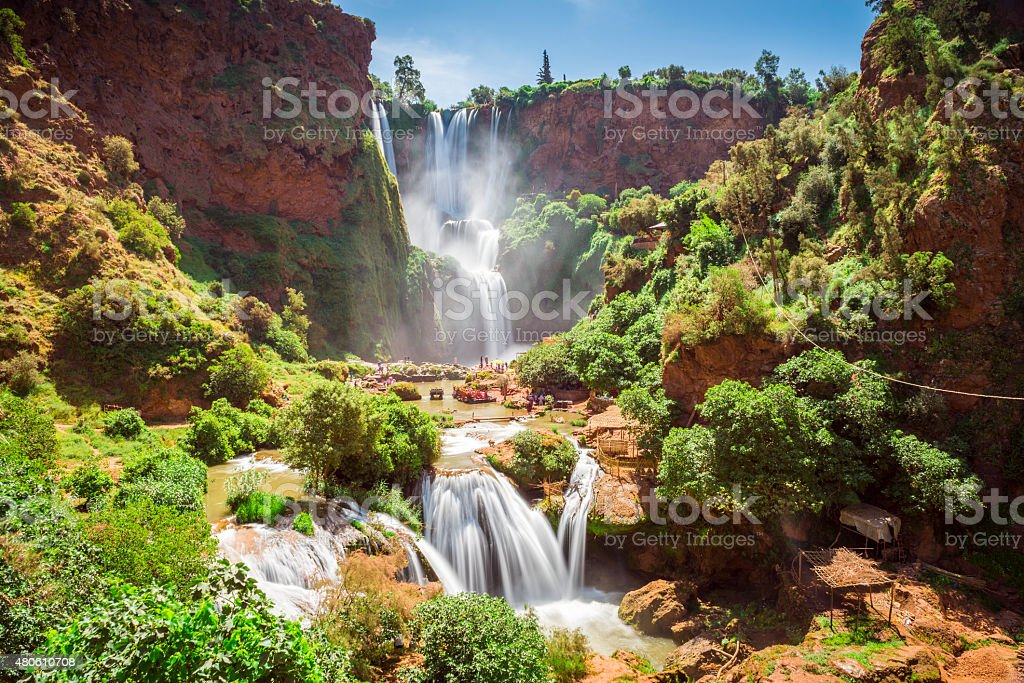 Ouzoud waterfalls, Grand Atlas in Morocco stock photo