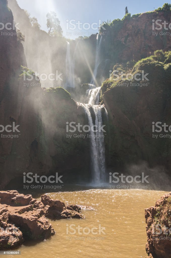 Ouzoud Waterfalls, Grand Atlas village of Tanaghmeilt, Azilal province, Morocco stock photo