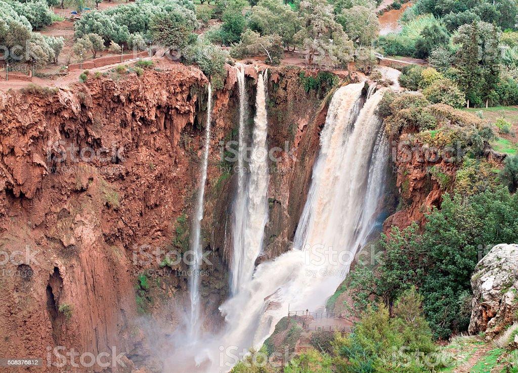 Ouzoud Waterfalls, Grand Atlas village of Tanaghmeilt, Morocco stock photo