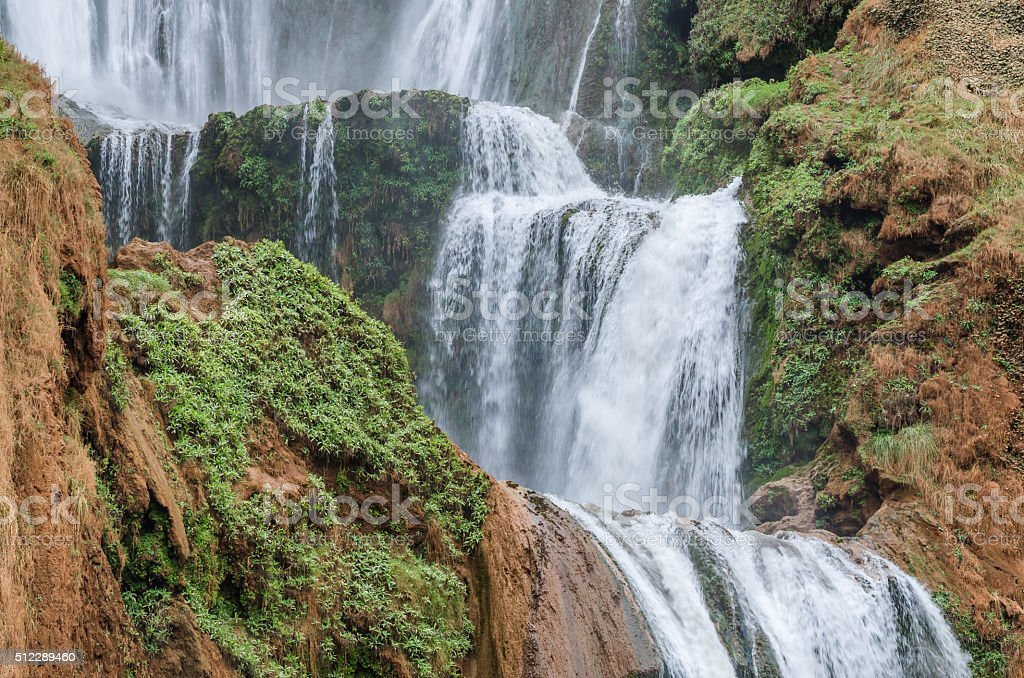 Ouzoud waterfalls in Grand Atlas village of Tanaghmeilt stock photo