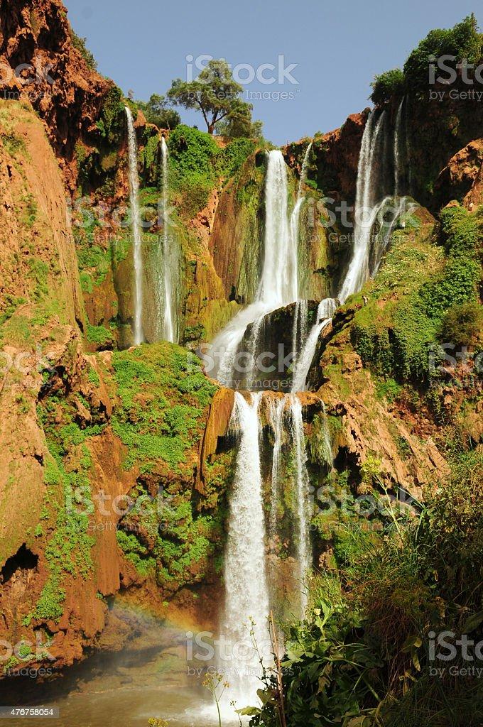 Ouzoud Waterfalls, Morocco. stock photo