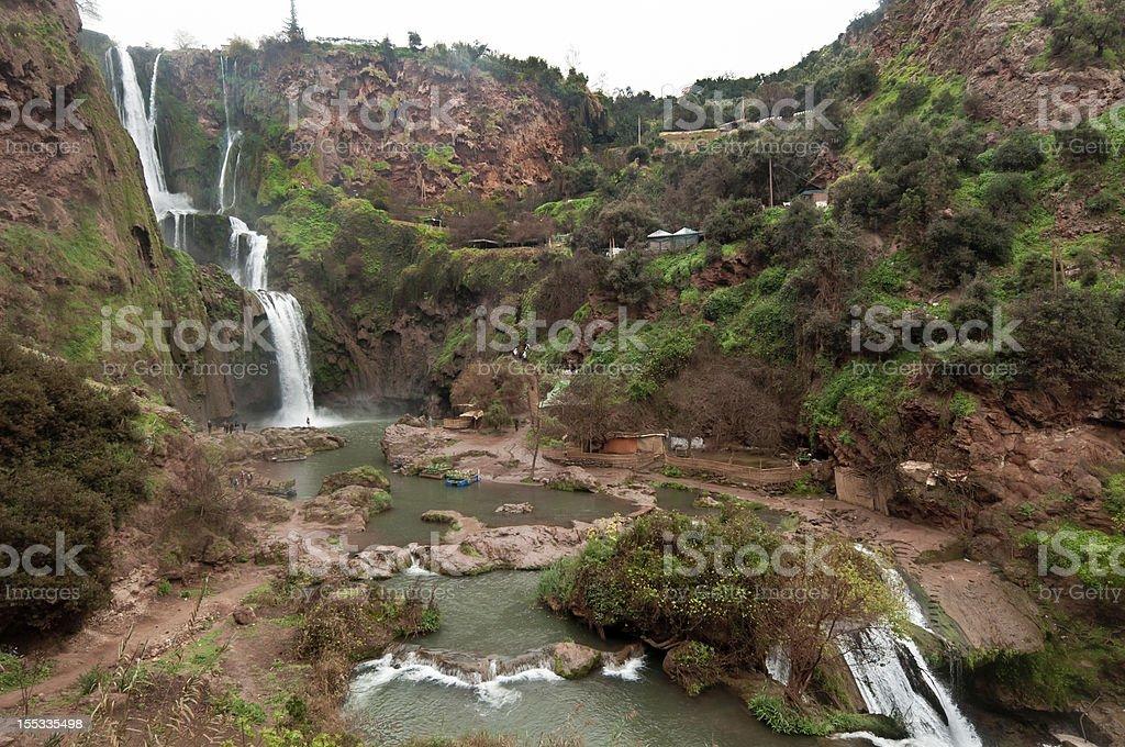 Ouzoud waterfalls. stock photo
