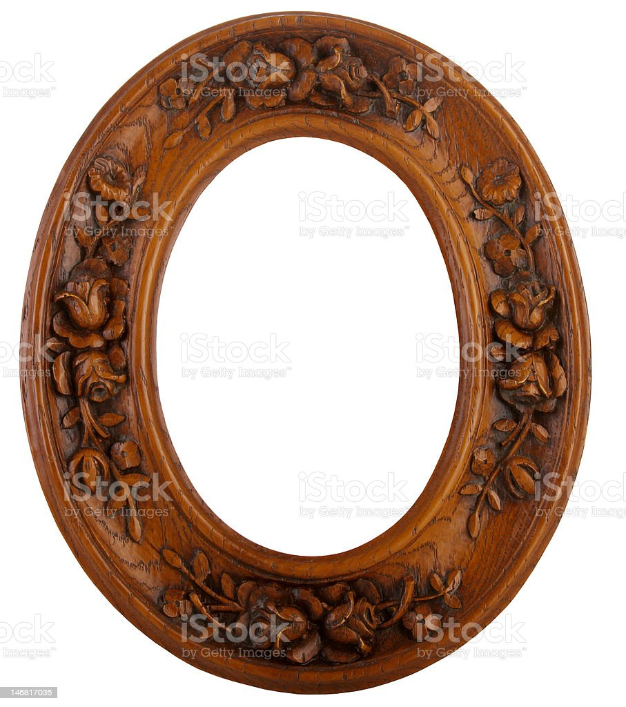 Oval Carved Frame royalty-free stock photo