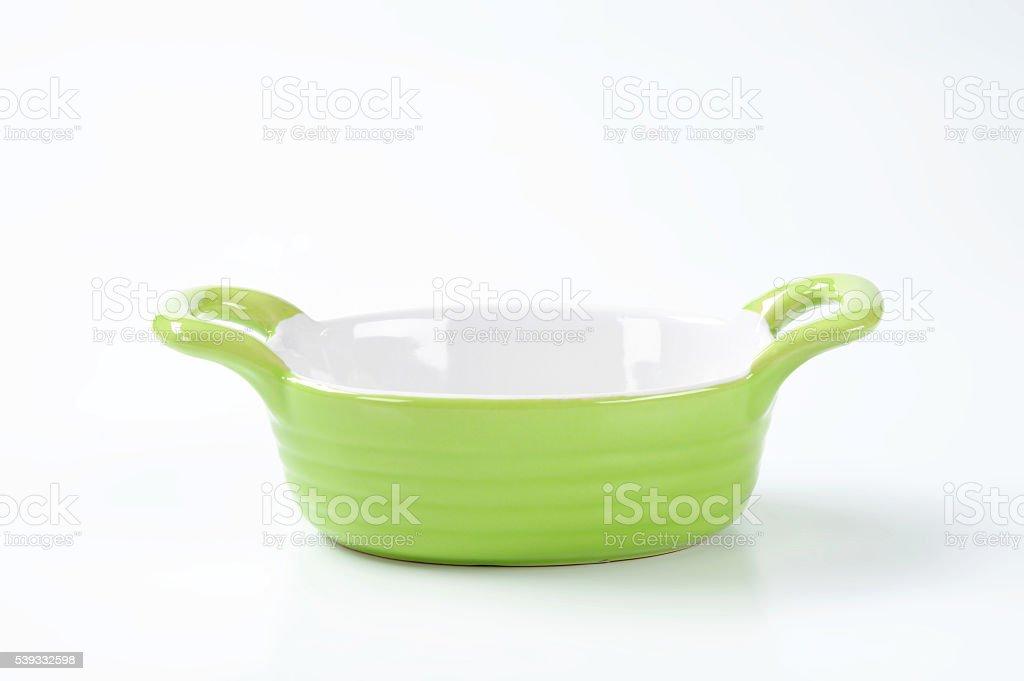 oval casserole dish stock photo
