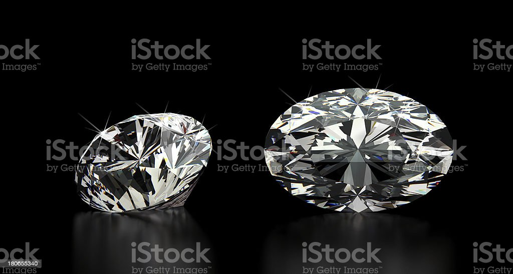 Oval Cut Diamond royalty-free stock photo