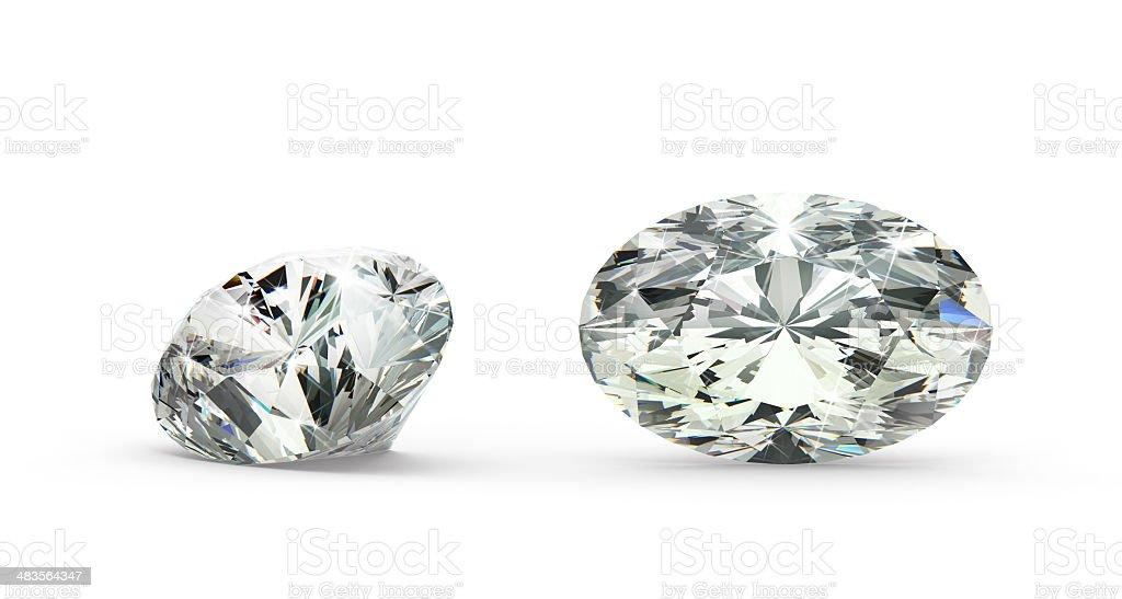Oval Cut Diamond royalty-free stock photo