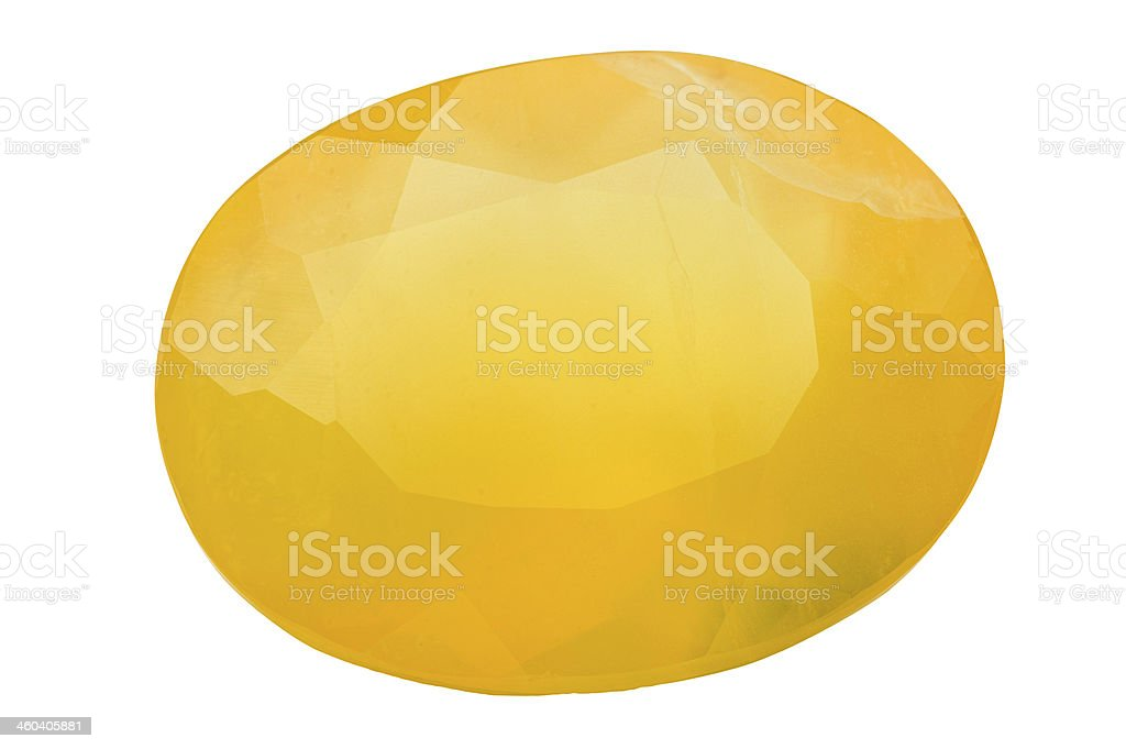 Oval Fire Opal stock photo