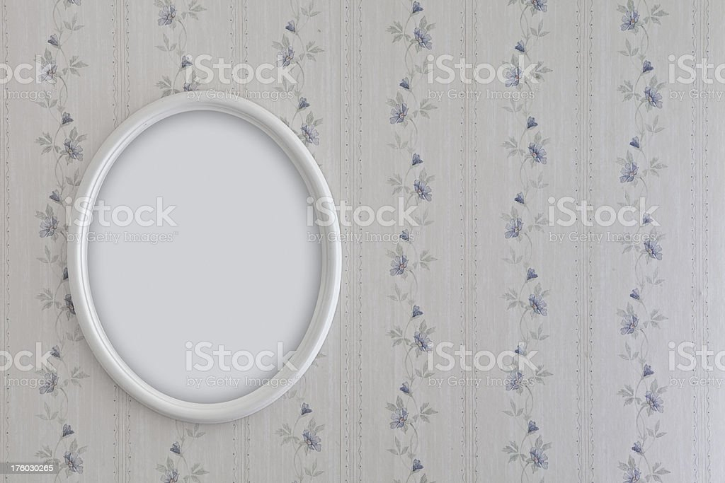 Oval frame on wall royalty-free stock photo