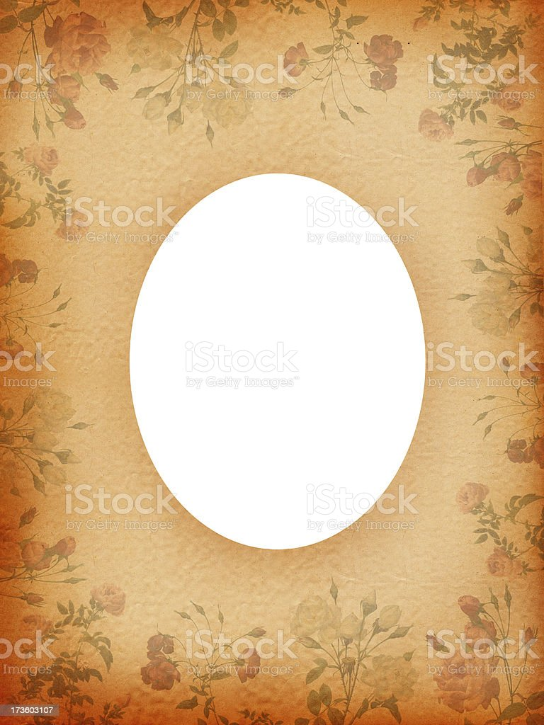 Oval Frame with Roses stock photo