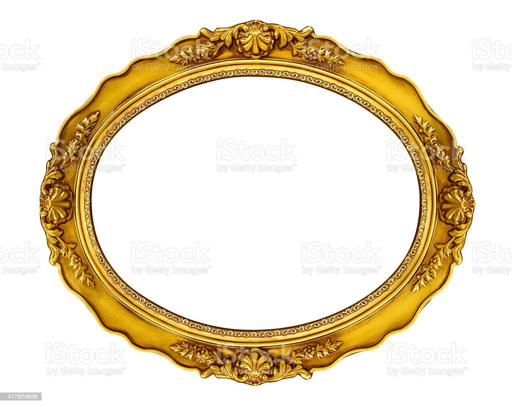 Oval Golden Frame stock photo
