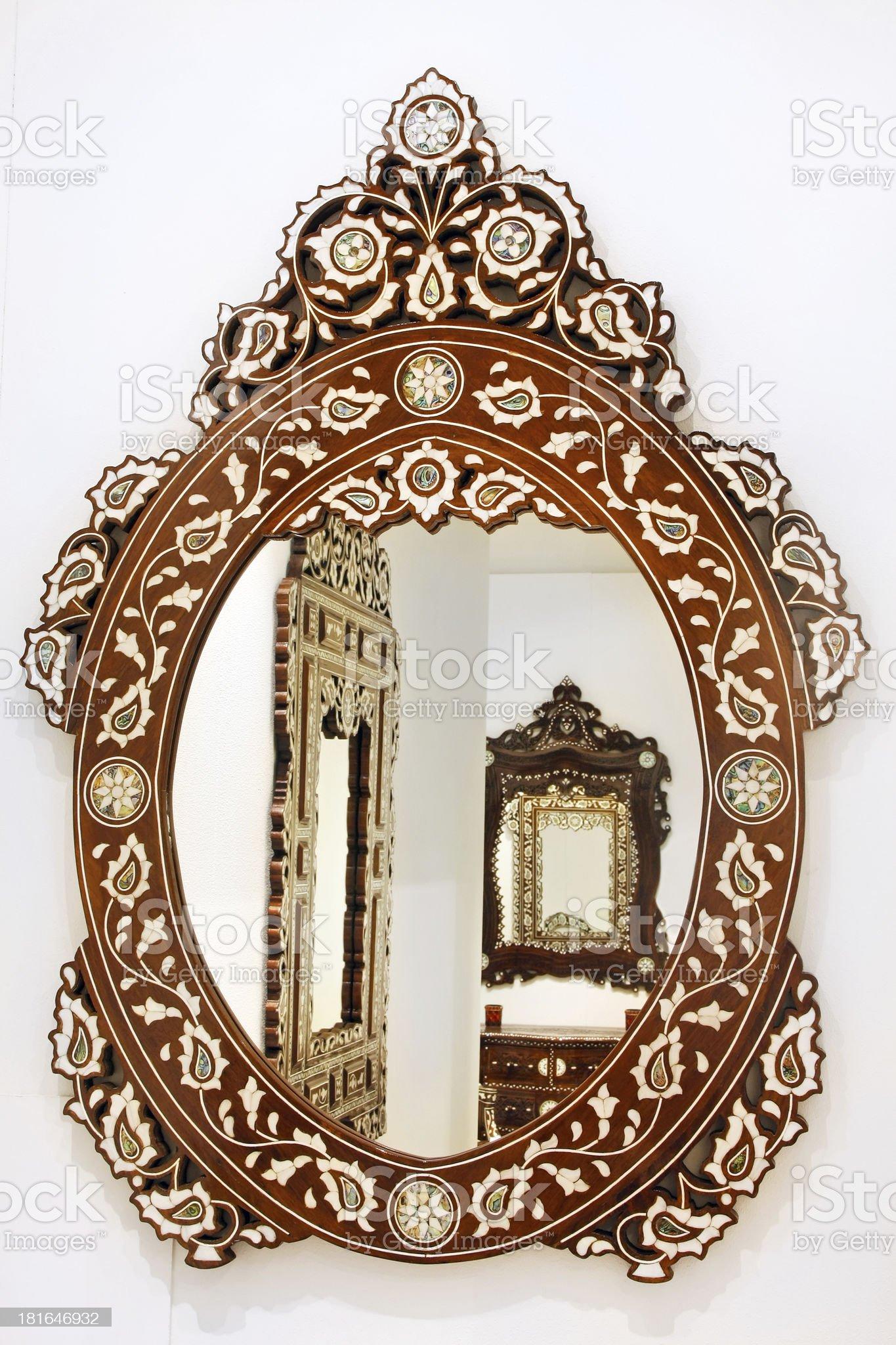Oval mirror royalty-free stock photo