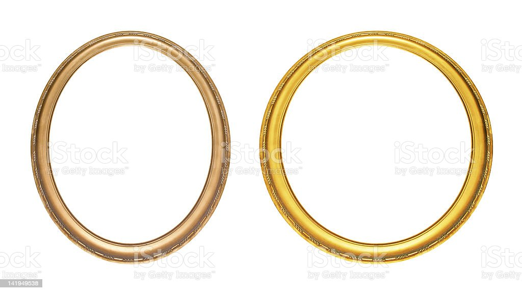 Oval photo frame (Clipping path!) stock photo