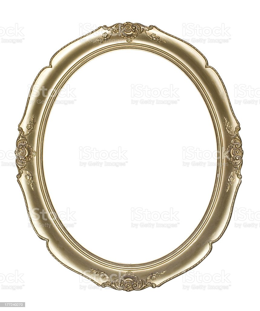 Oval photo frame(Clipping path!) royalty-free stock photo