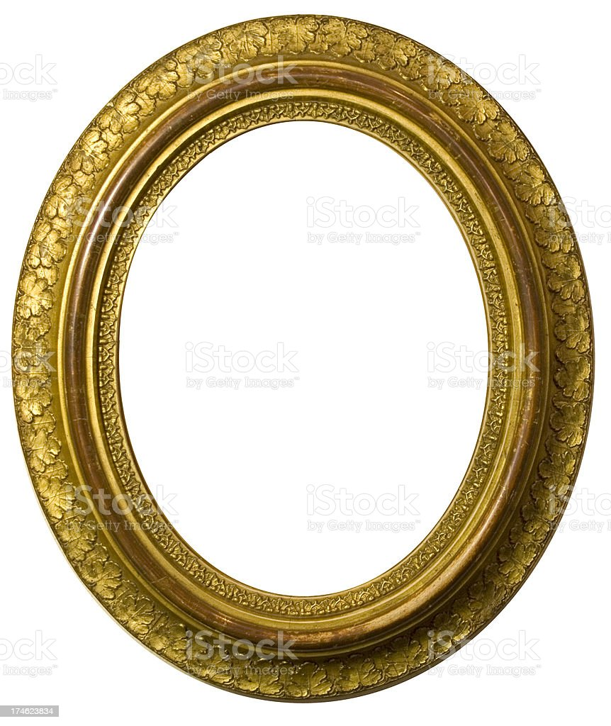 Oval picture frame royalty-free stock photo