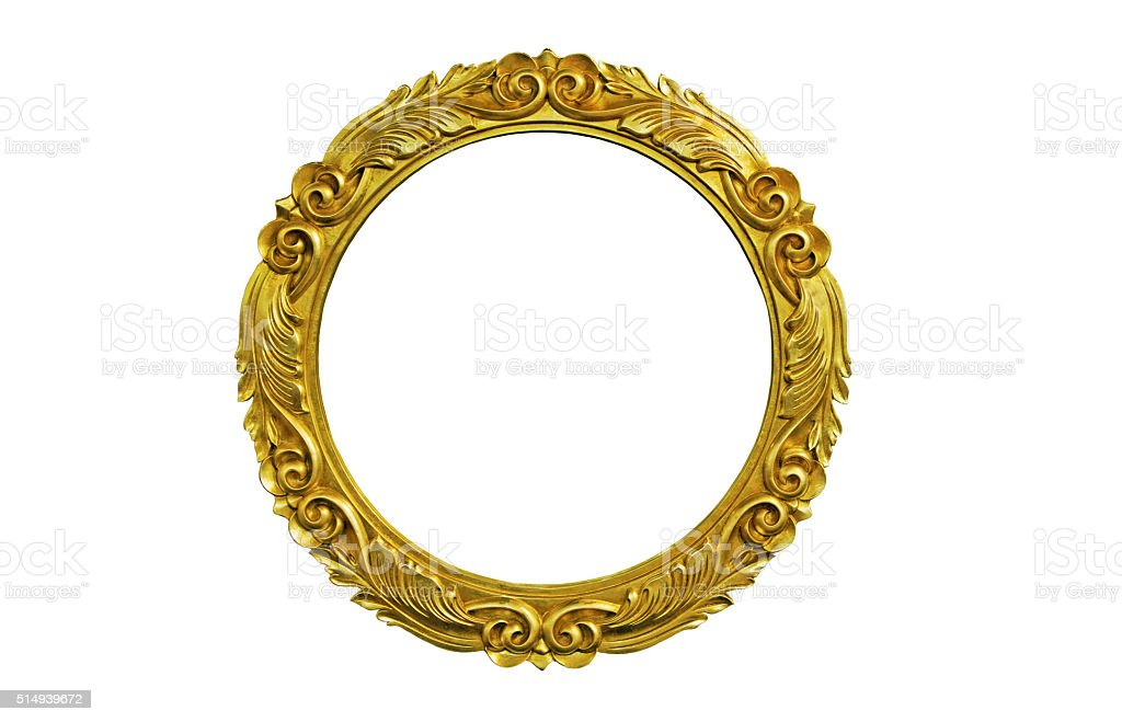 Oval Picture Frame stock photo
