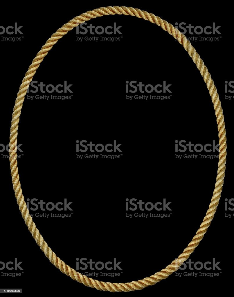 Oval Rope Frame royalty-free stock photo