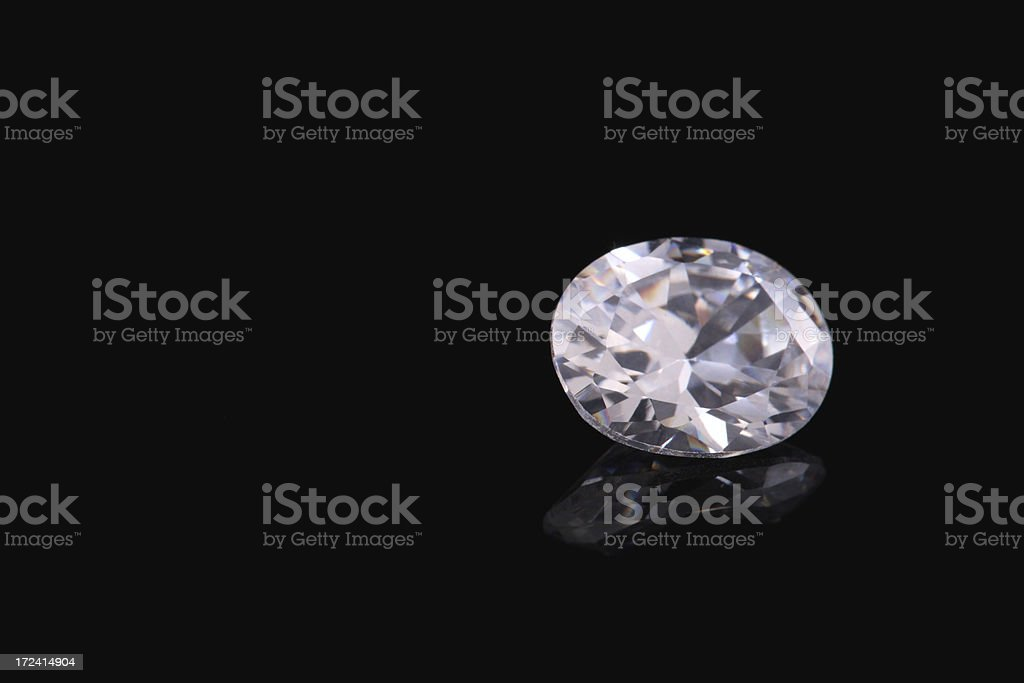 Oval Shape Diamond royalty-free stock photo
