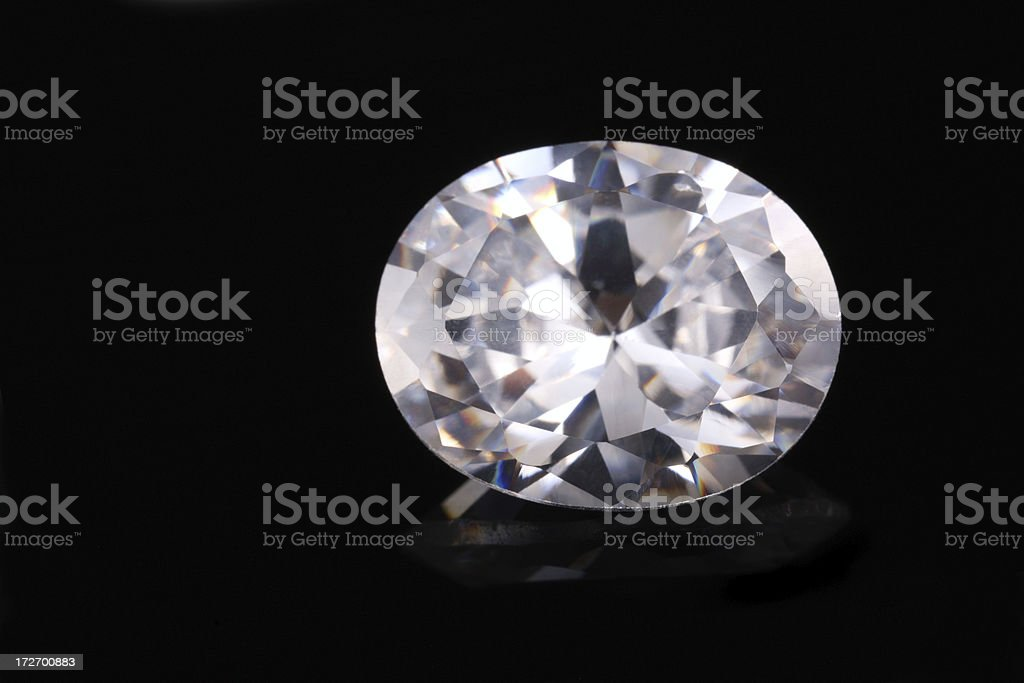 Oval Shape Diamond royalty-free stock photo