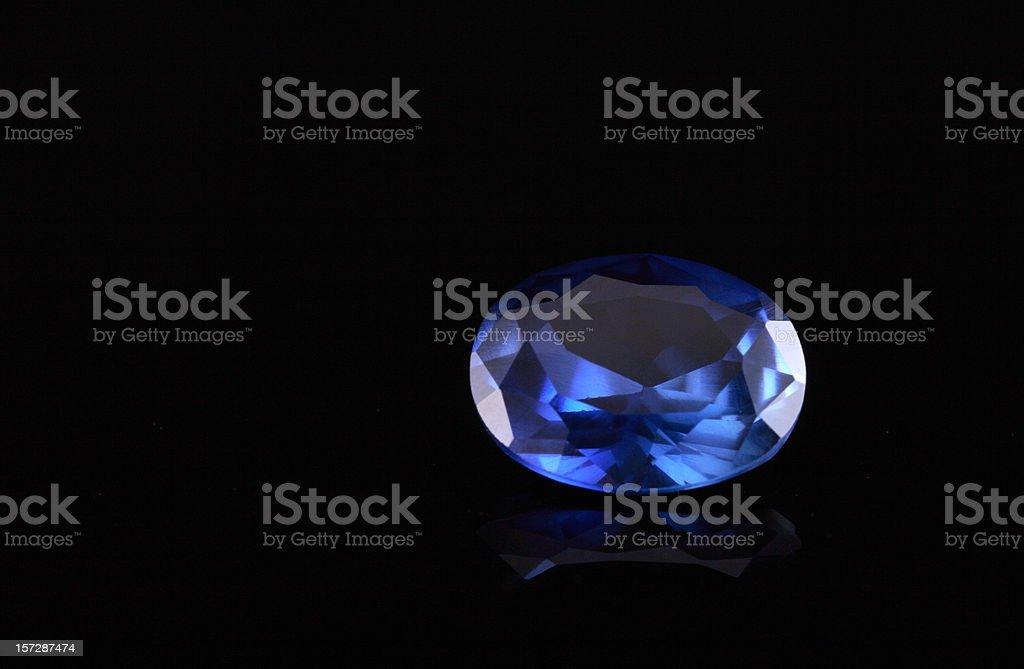 Oval Shape Sapphire Stone royalty-free stock photo