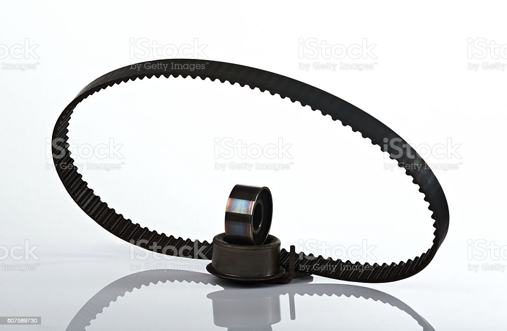 oval timing car belt stock photo