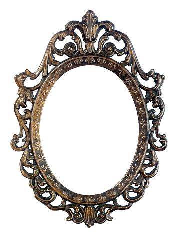 Antique Oval Mirror Frame
