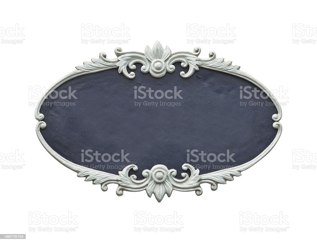 oval wood frame royalty-free stock photo