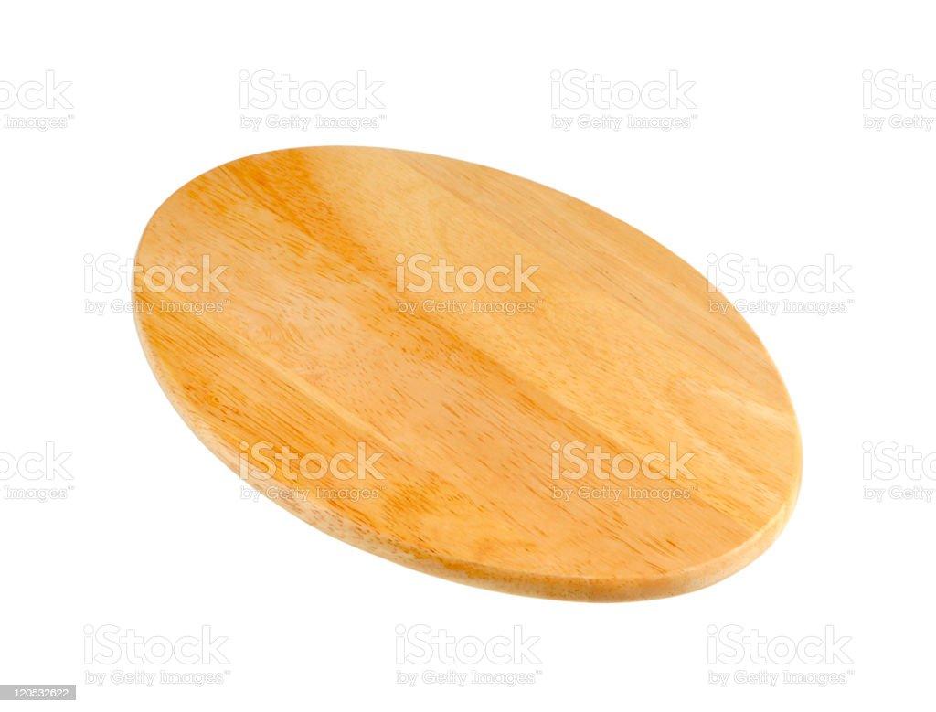 Oval-shaped cutting board stock photo