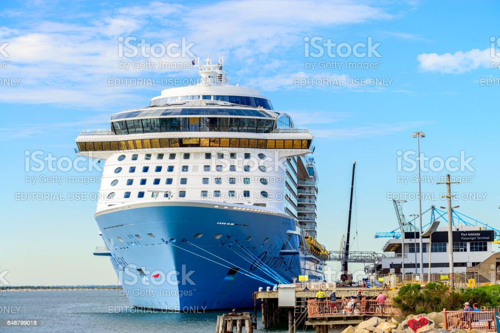 MS Ovation of the Seas cruise ship stock photo
