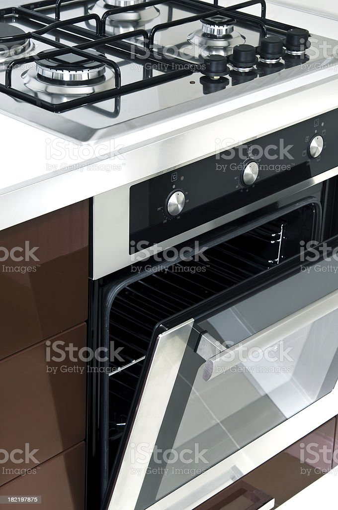oven and stove stock photo