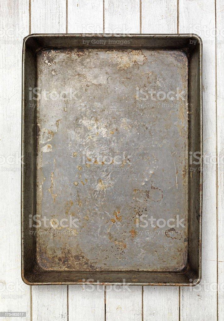 Oven baking tray stock photo