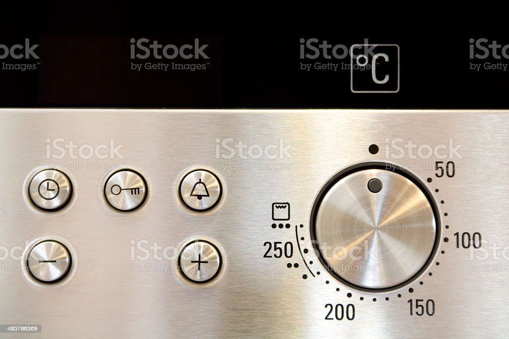 Oven buttons stock photo