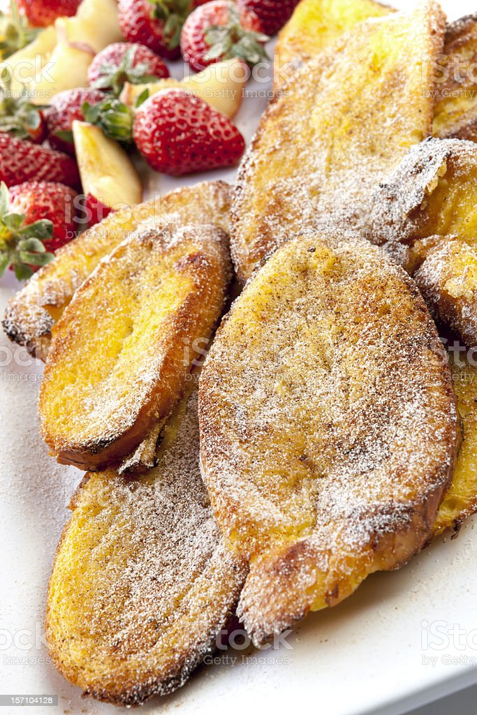 Oven French Toast with Fruit royalty-free stock photo